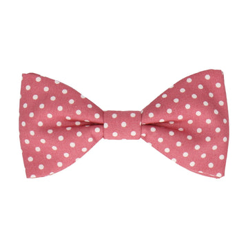Blush Pink Polka Dots Cotton Bow Tie