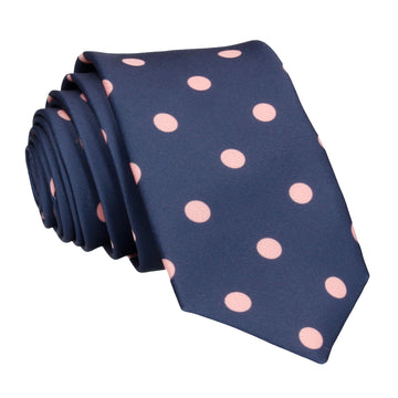 Silksworth in Navy with Coral Tie