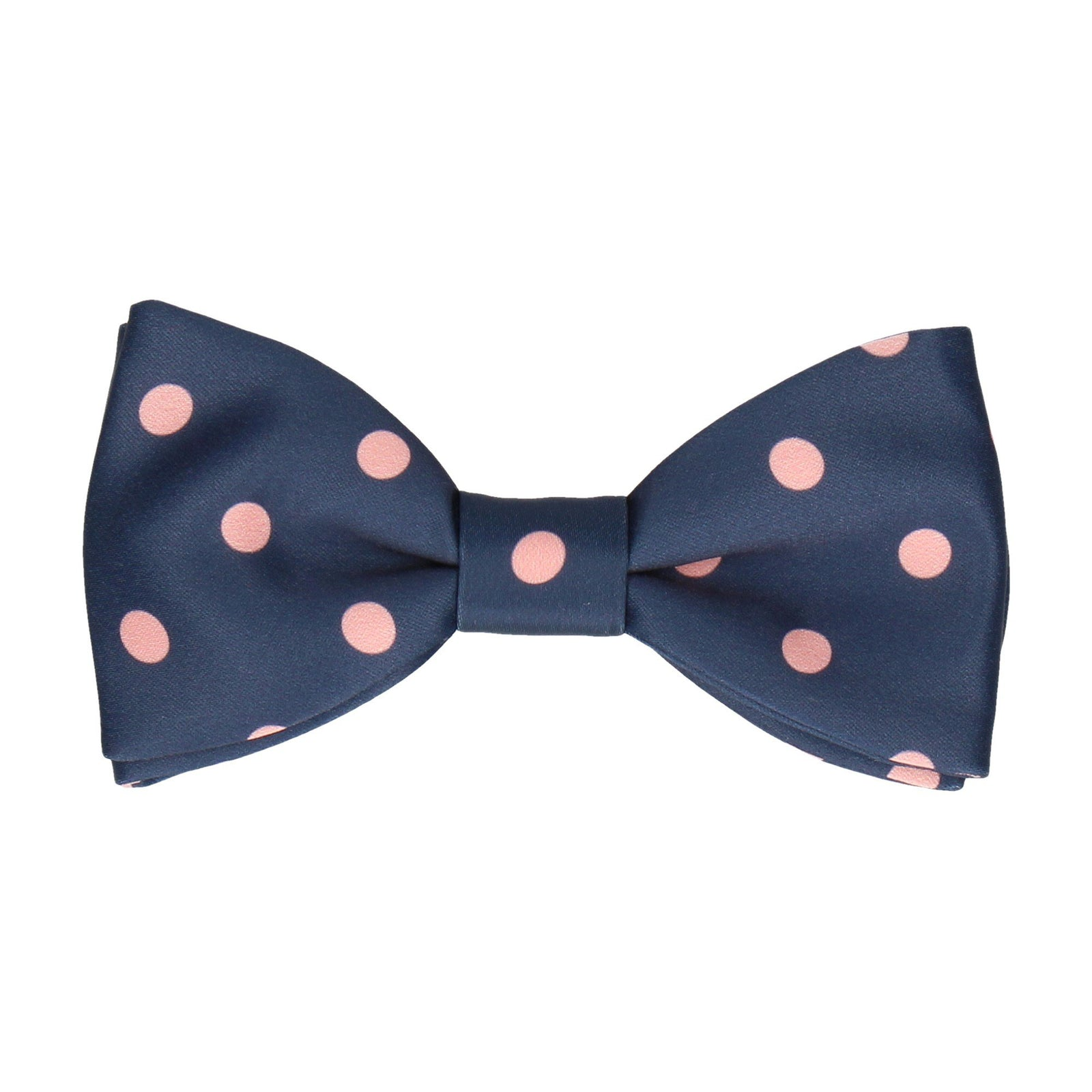 Silksworth Navy Blue with Coral Bow Tie
