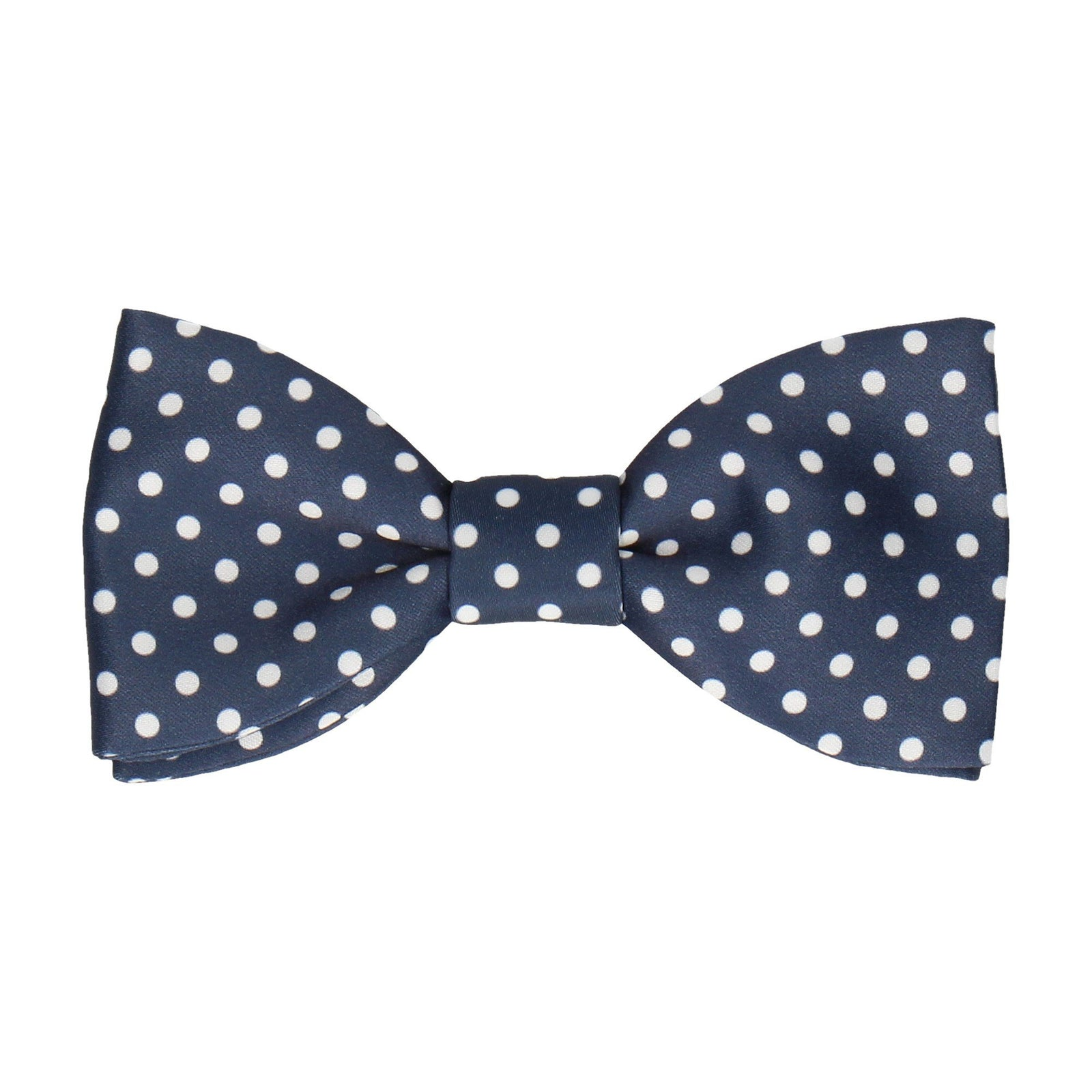 White Dots Navy Blue Bow Tie