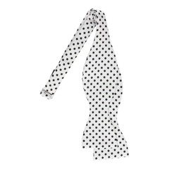 Black Dots in White Bow Tie