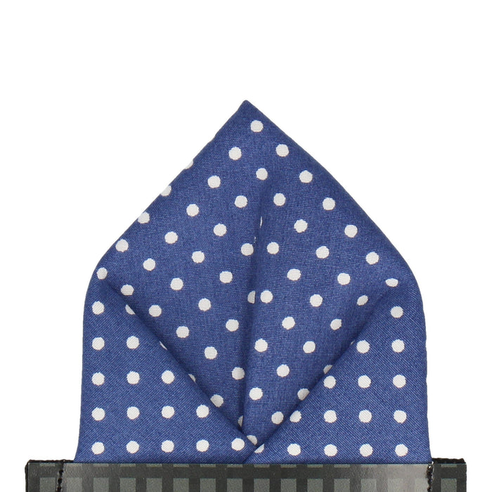 Chiswick in French Blue Pocket Square - - Pocket Squares and Handkerchiefs by Mrs Bow Tie