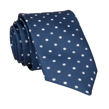 Navy & Grey Polka Dots Tie