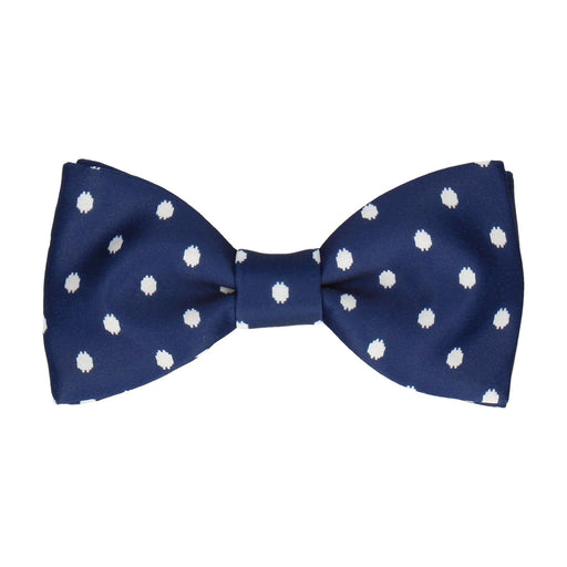 Broxton in Navy Blue Bow Tie -Standard-Pre-Tie- - bowties by Mrs Bow Tie