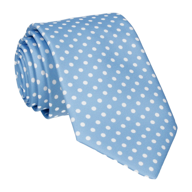 Serenity Light Blue Polka Dots Tie
