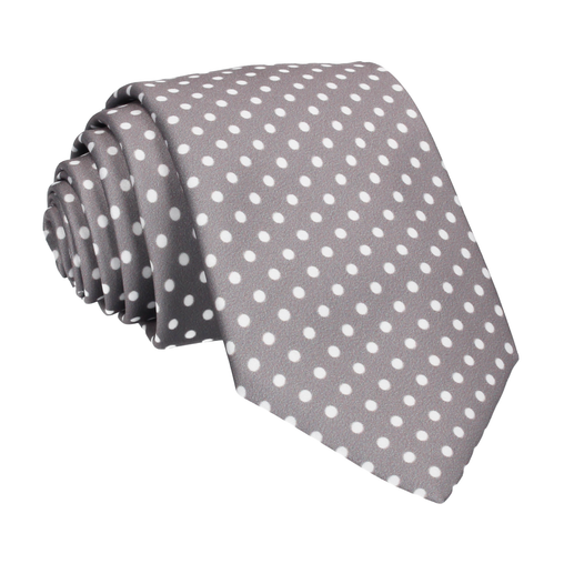 White Dots in Thunder Grey Tie