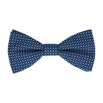 Blue Dots Cotton Bow Tie