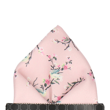 Blush Pink Chinoiserie Floral Pocket Square