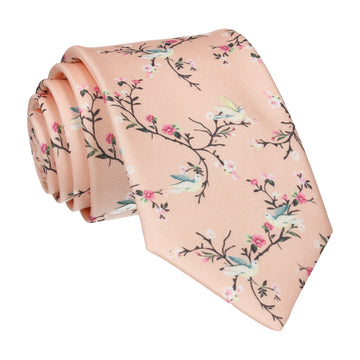 Chinoiserie in Light Peach Tie
