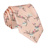 Light Peach Chinoiserie Floral Tie