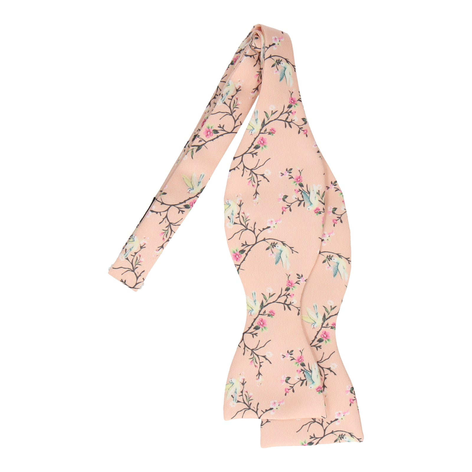 Light Peach Chinoiserie Floral Bow Tie