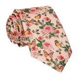 Peach Butterfly Roses Summer Wedding Tie