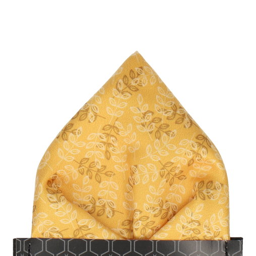 Aberdeen Mustard Gold Pocket Square