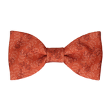 Leaf Print Copper Bow Tie