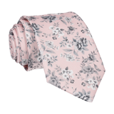 Blush Pink Floral Wedding Tie