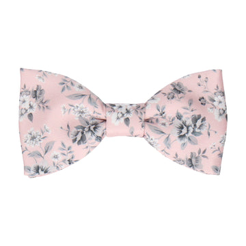 Blush Pink Floral Wedding Bow Tie