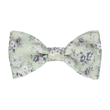 Sage Green Floral Wedding Bow Tie