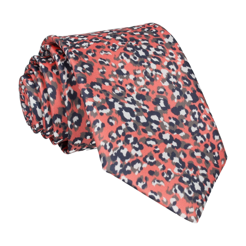 Leopard Print in Coral Tie