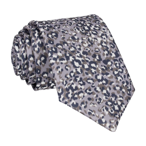 Leopard Print in Lilac Grey Tie