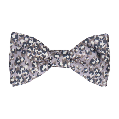 Leopard Print in Lilac Grey Bow Tie