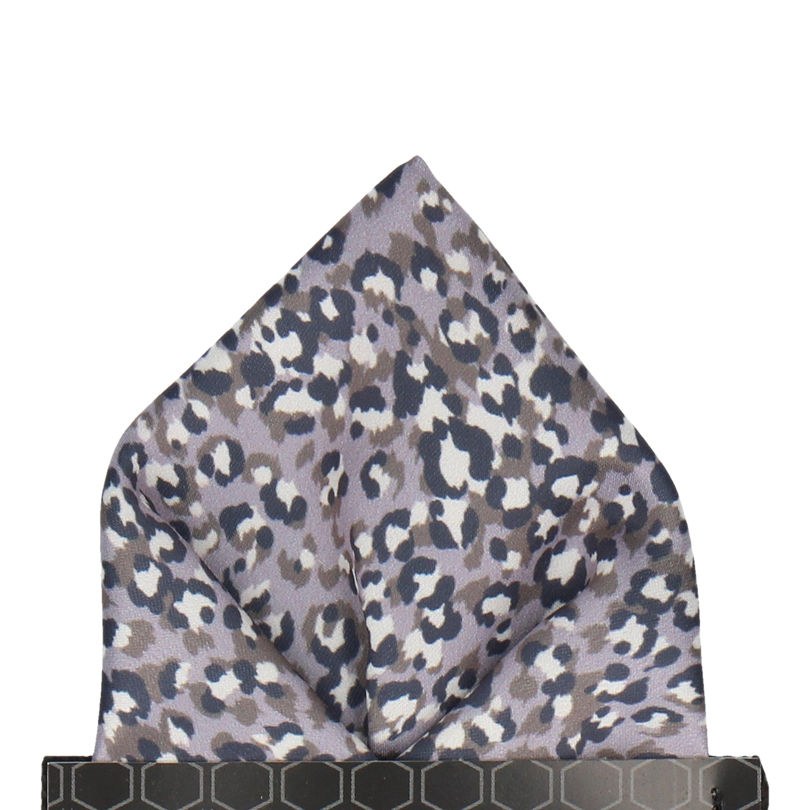 Leopard Print in Lilac Grey Pocket Square