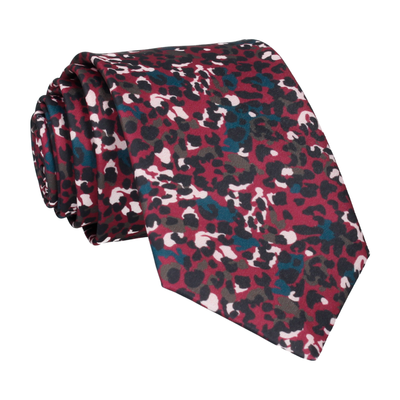 Jungle Spots in Mulberry Tie