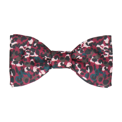 Jungle Spots in Mulberry Bow Tie