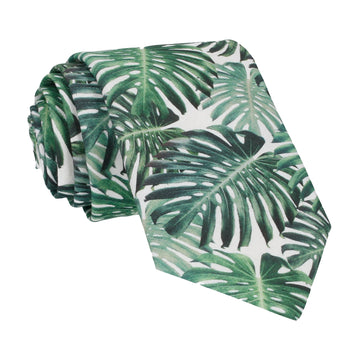 Rainforest Green Jungle Leaf Tie