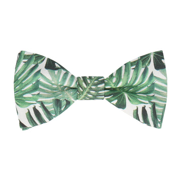 Rainforest Green Jungle Leaf Bow Tie