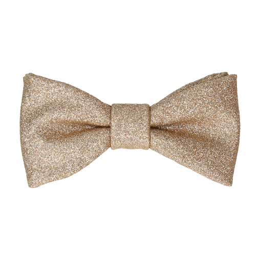 Glitter Gold Bow Tie