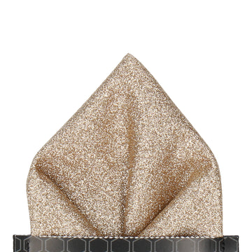 Gold Glitter Pocket Square