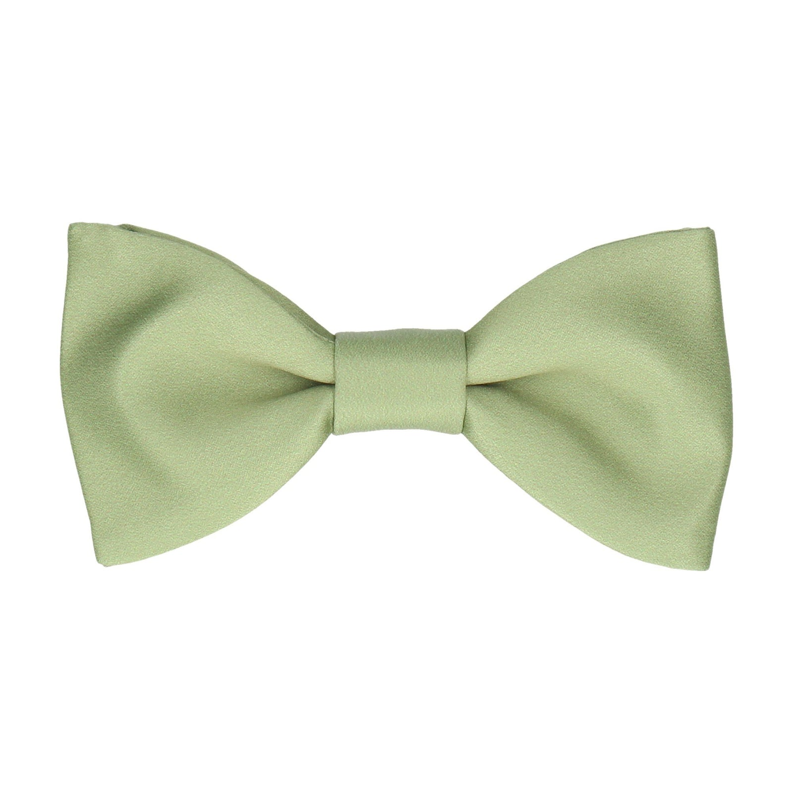 Plain Solid Celadon Green Bow Tie