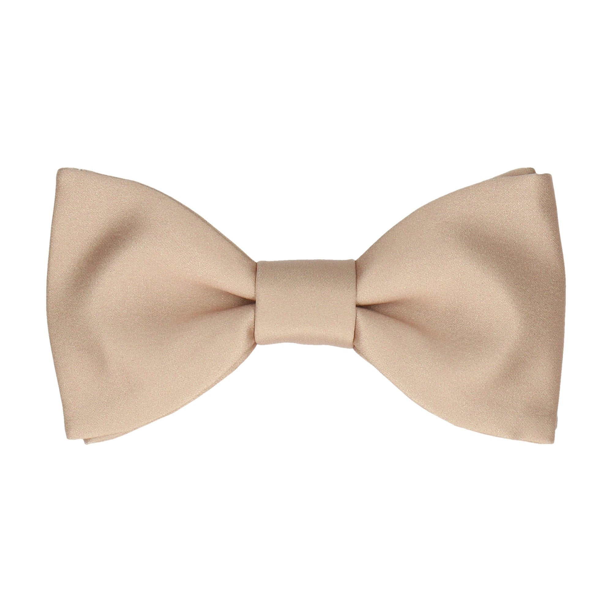 Plain Solid Luxe Taupe Bow Tie