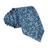 Ditsy Floral Blue Flower Wall Tie