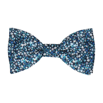 Ditsy Floral Blue Flower Wall Bow Tie