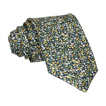 Ditsy Floral Yellow Flower Wall Tie