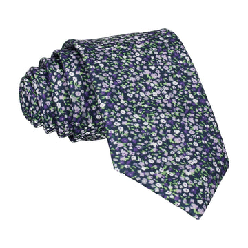 Ditsy Floral Purple Flower Wall Tie