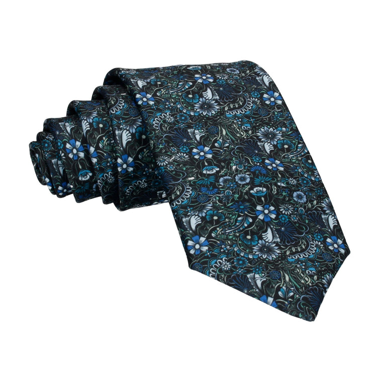 Botanical Blue Quirky Floral Tie
