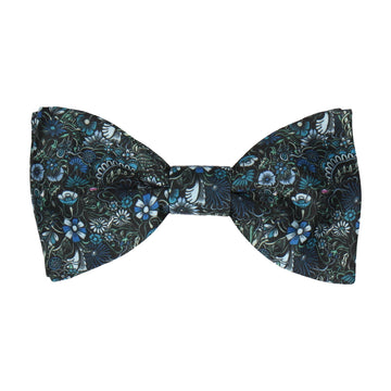Botanical Blue Quirky Floral Bow Tie