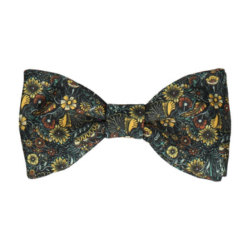 Botanical Yellow Quirky Floral Bow Tie