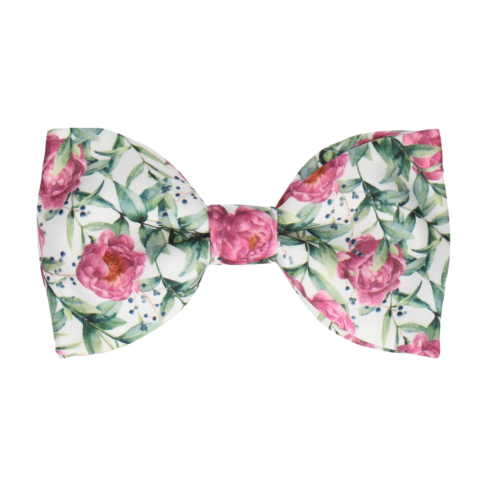 Pink Peony, Eucalyptus and Berries Bow Tie