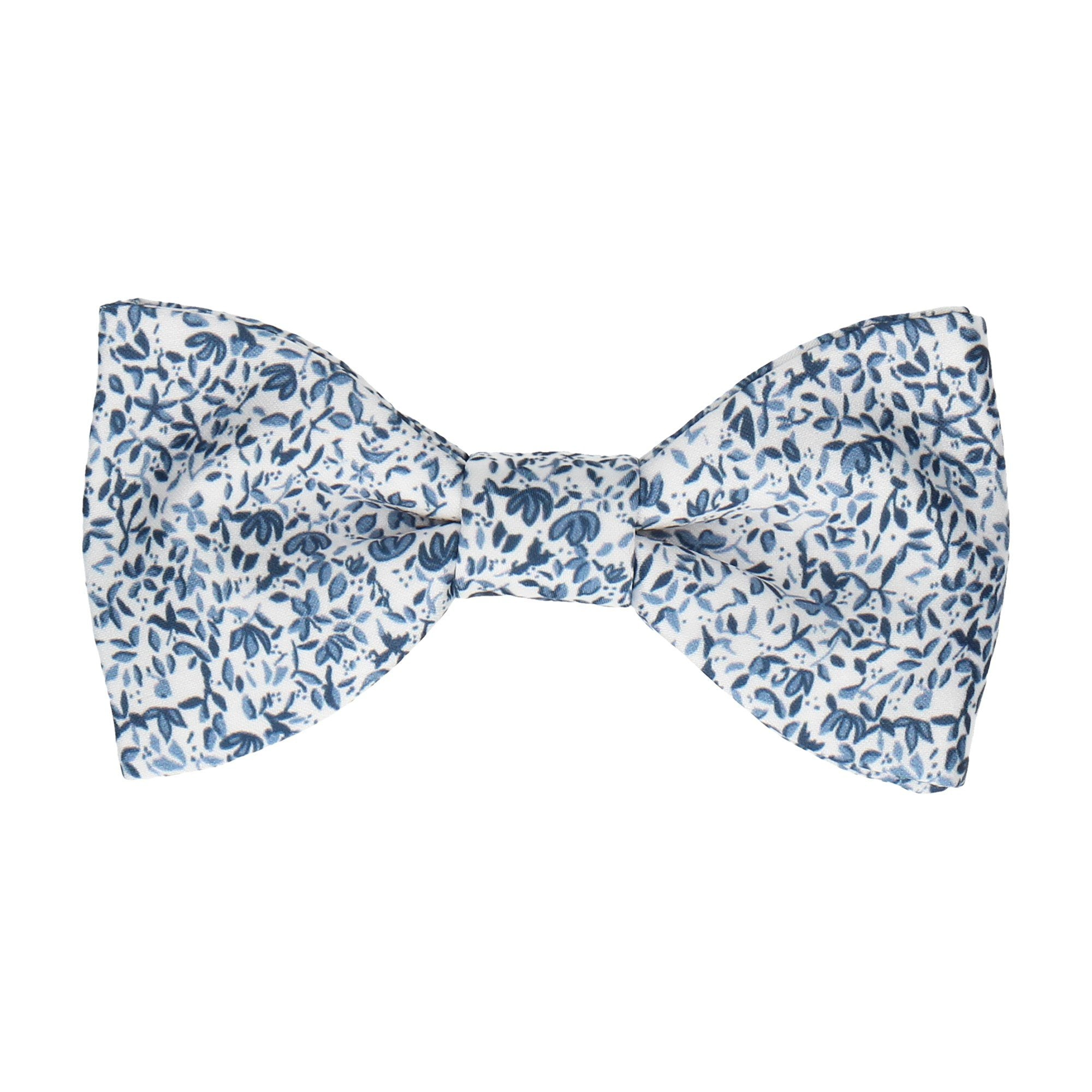 Petal Blossom Blue Ditsy Floral Bow Tie