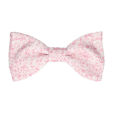 Petal Blossom Pink Ditsy Floral Bow Tie