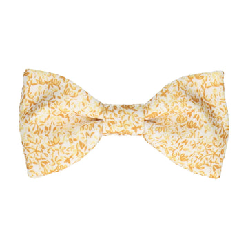 Petal Blossom Yellow Ditsy Floral Bow Tie