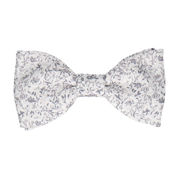 Petal Blossom Grey Ditsy Floral Bow Tie