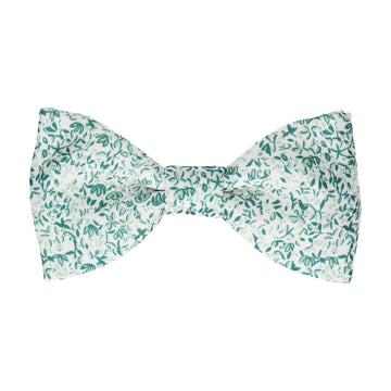 Petal Blossom Green Ditsy Floral Bow Tie