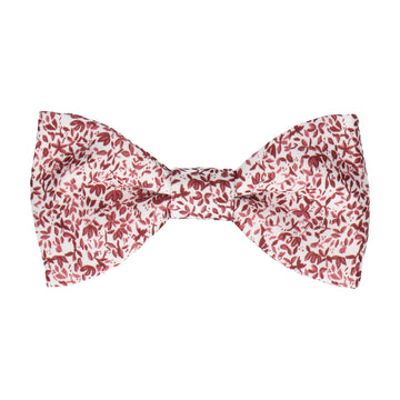 Petal Blossom Burgundy Red Ditsy Floral Bow Tie