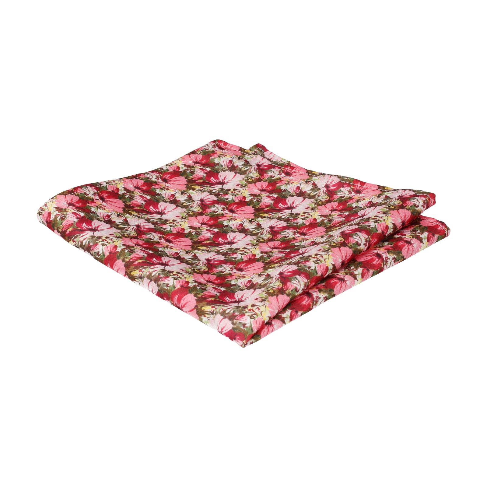 Pink Jungle Floral Pocket Square