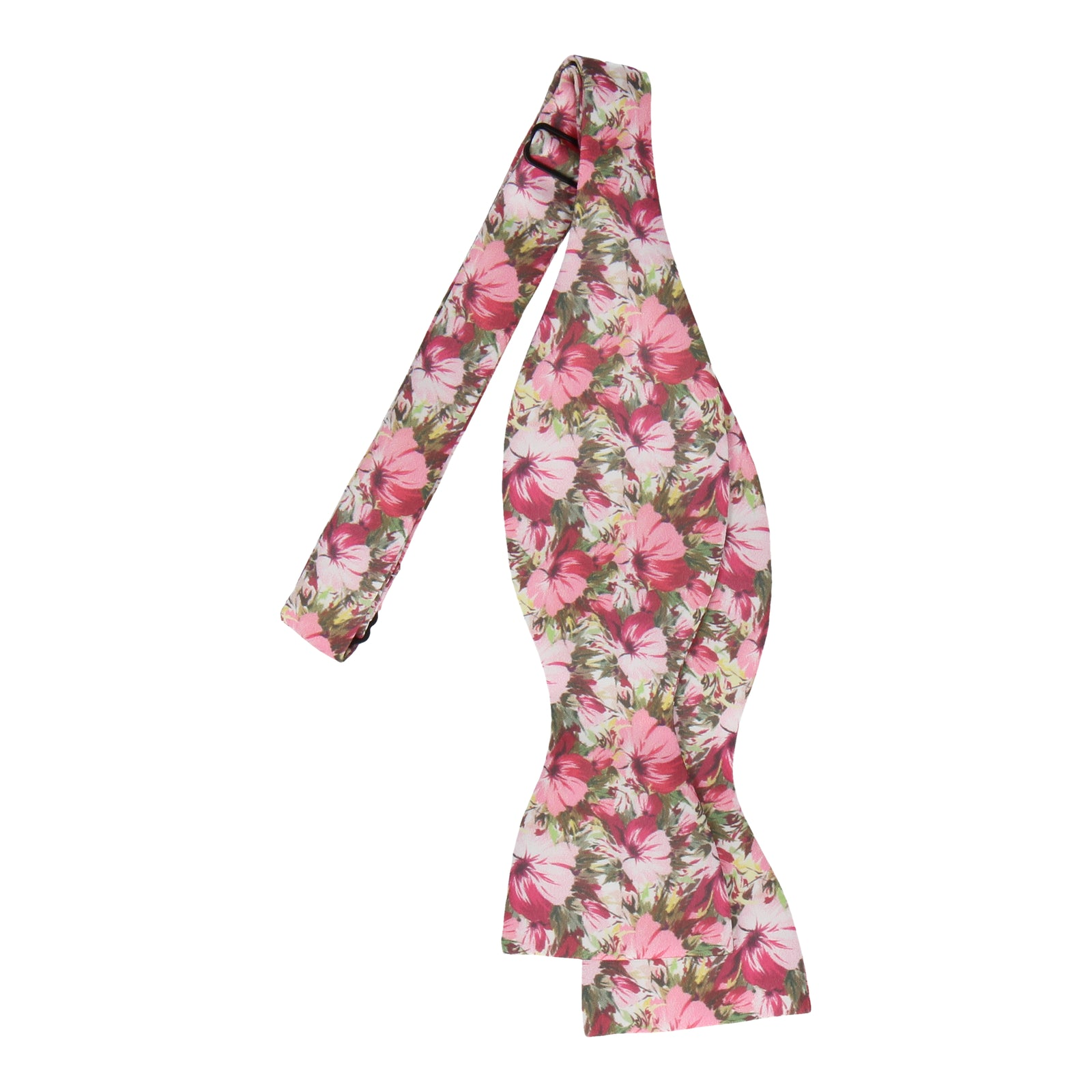 Pink Jungle Floral Bow Tie