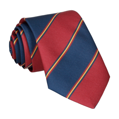 Red & Navy Regimental Stripe Tie